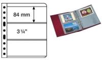 Лист в альбом Vario для бон, на 3 боны 3С. Размер листа  280*216 мм. Ячейка 84*195 мм. Комплект 5шт